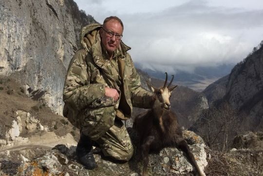 Hunting to chamois in Russia
