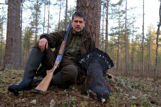 Hunting to capercaillie in Russia