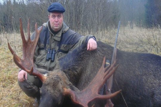 Hunting to moose in Russia
